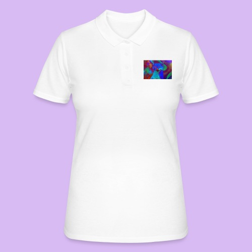 Gattino con effetti neon surreali - Women's Polo Shirt