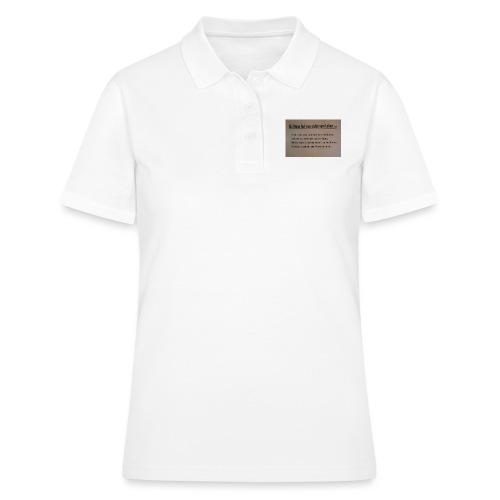 Als Mann - Frauen Polo Shirt