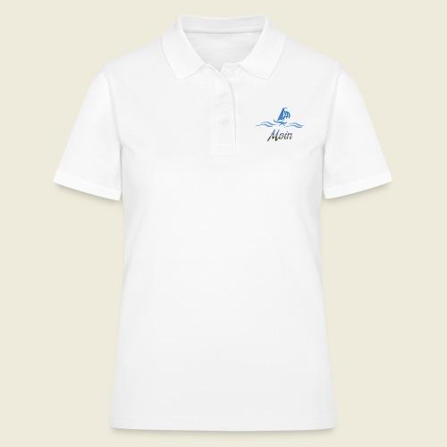 Moin mit Schiff und Meer - Frauen Polo Shirt
