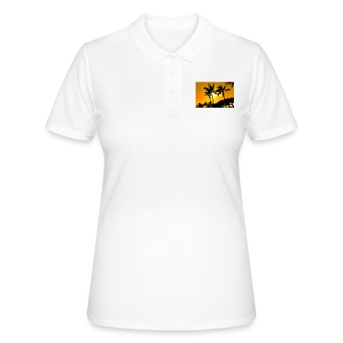 pam trees - Women's Polo Shirt