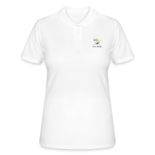stay home03 - Frauen Polo Shirt