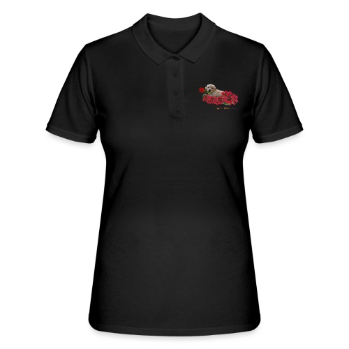 Cucciolo Golden Retriever con Rosa in Bocca - Women's Polo Shirt
