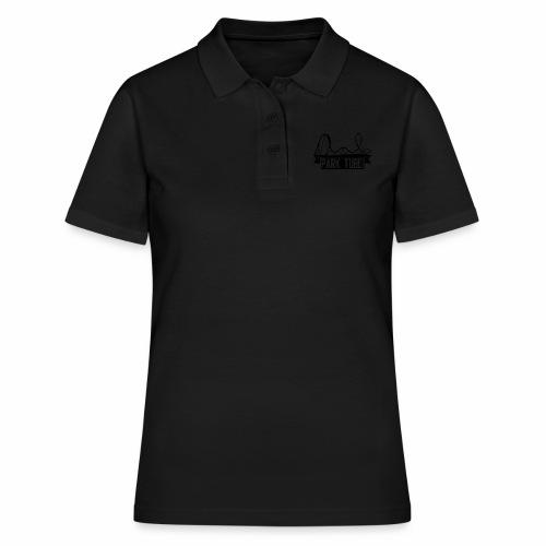 ParkTube Banner mit Achterbahn schwarz - Frauen Polo Shirt