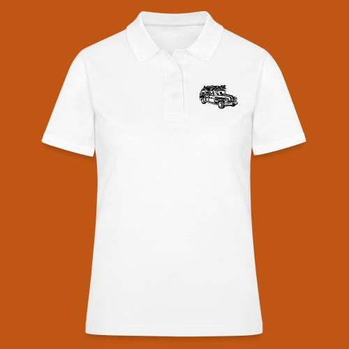 Chevy Cadilac Woodie / Oldtimer Kombi 01_schwarz - Frauen Polo Shirt