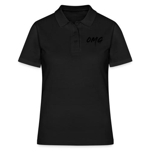 OMG, musta - Women's Polo Shirt