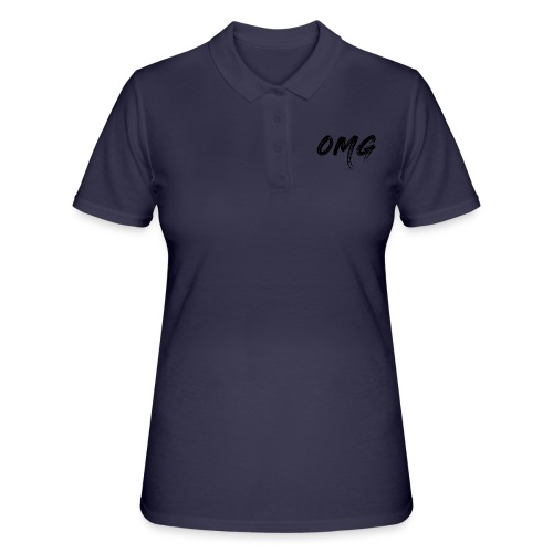 OMG, musta - Women's Polo Shirt