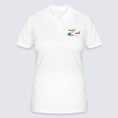 ctrl-c ctrl-x ctrl-z - Frauen Polo Shirt