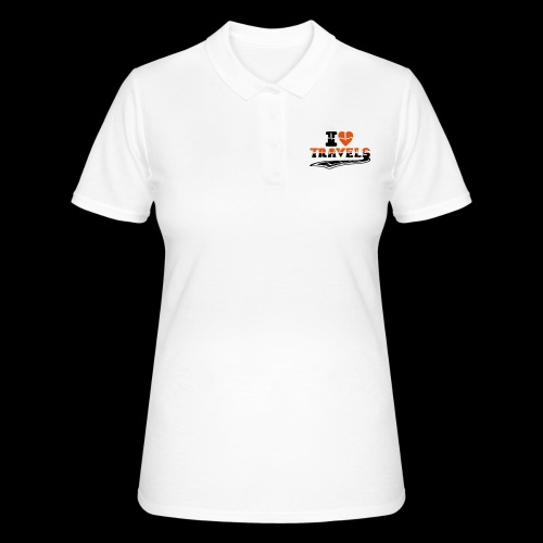 i love travels surprises 2 col - Women's Polo Shirt