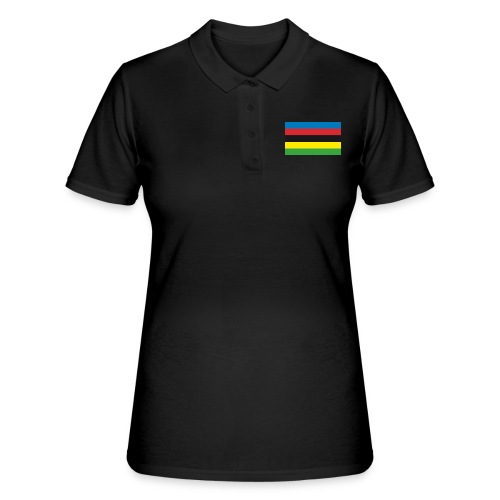 Cycling_World_Champion_Rainbow_Stripes-png - Vrouwen poloshirt