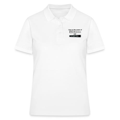 I_LIVE_AT_THE_CORNER_CUT_-2- - Women's Polo Shirt