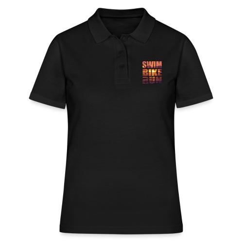 swim bike run @RUNNINGFORCE - Frauen Polo Shirt