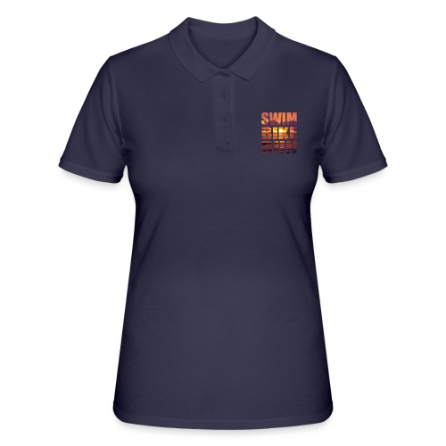 swim bike run @RUNNINGFORCE - Frauen Polo Shirt