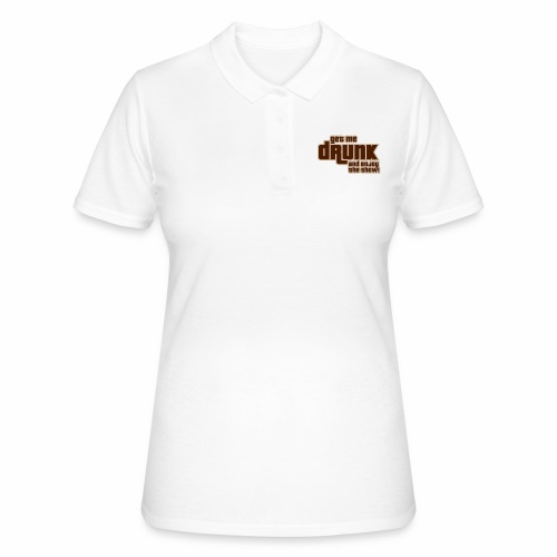 drunk - Women's Polo Shirt