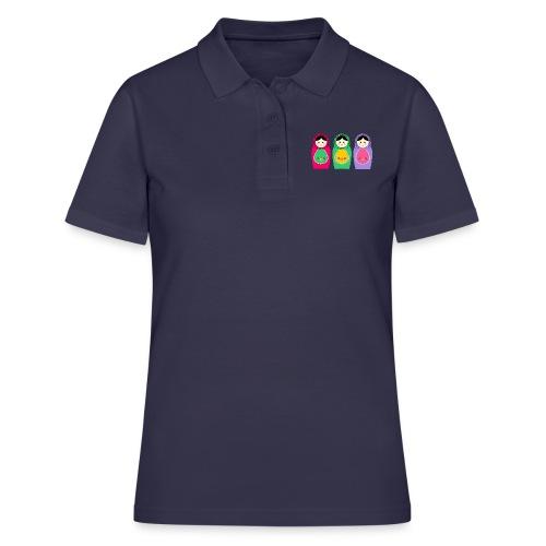 Matroschka Trio groß birth birthday Geburt - Frauen Polo Shirt