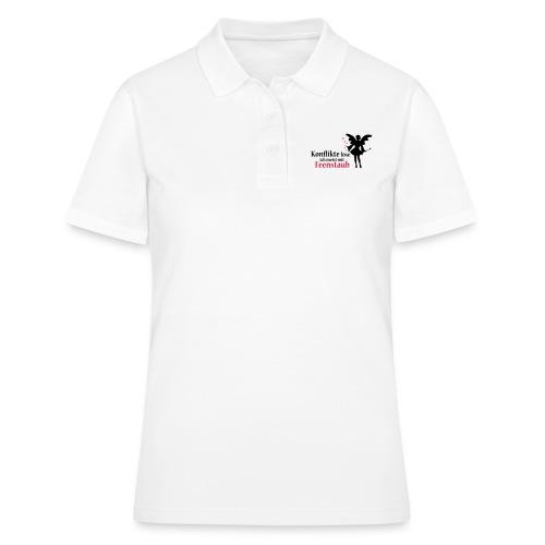 Konflikte löse ich meist mit Feenstaub (Spruch und - Frauen Polo Shirt