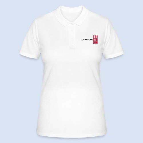 Triathlon Swim Bike Run - Frauen Polo Shirt