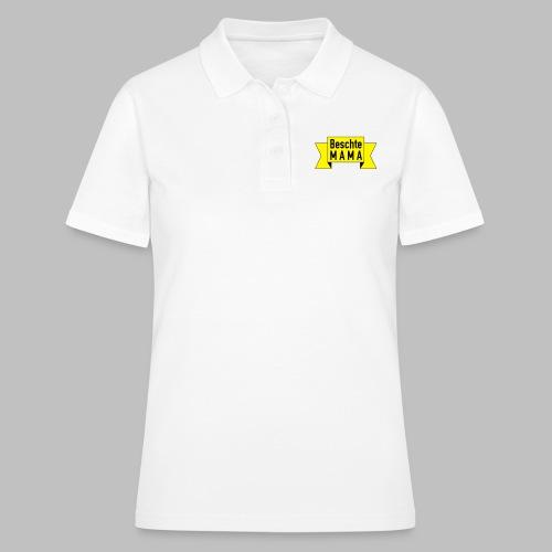 Beschte Mama - Auf Spruchband - Frauen Polo Shirt