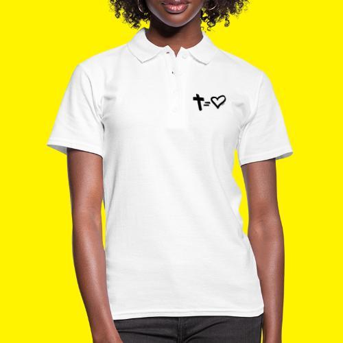 Cross = Heart BLACK - Women's Polo Shirt