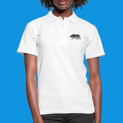 Bear Word Cloud black text - Women's Polo Shirt
