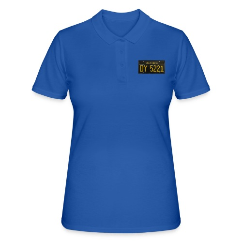 CALIFORNIA BLACK LICENCE PLATE - Women's Polo Shirt