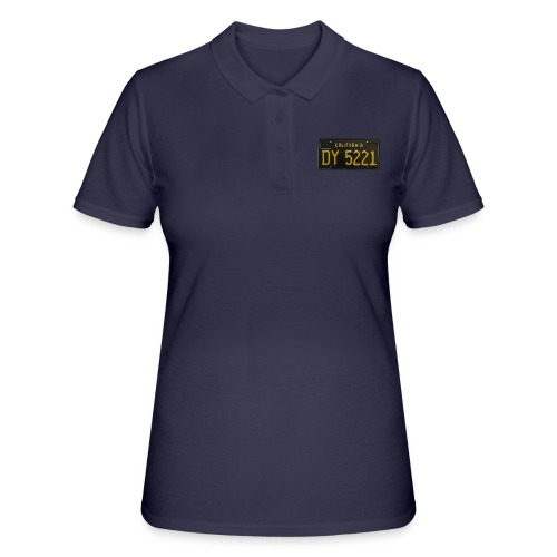 CALIFORNIA BLACK LICENCE PLATE - Women's Polo Shirt