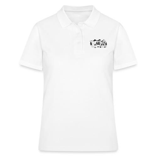 Elch Individuelle Illustration Skandinavien Gesche - Frauen Polo Shirt