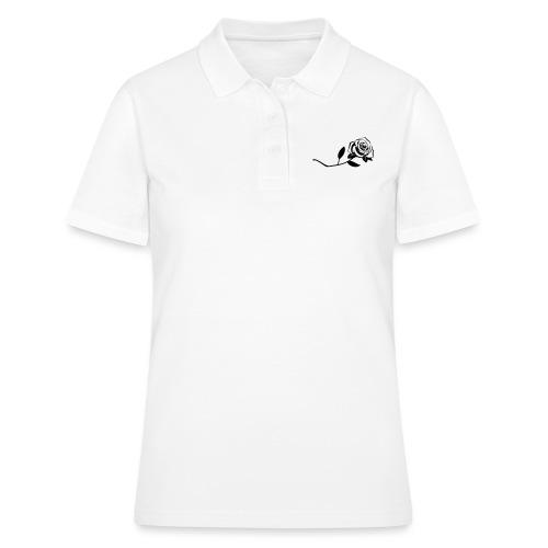 Rose - Schwarz - Frauen Polo Shirt