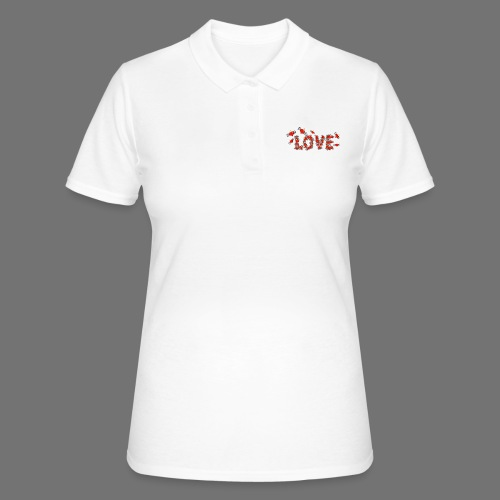 Flying Hearts LOVE - Women's Polo Shirt