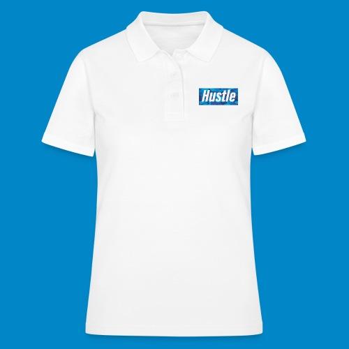 blue camo box logo - Women's Polo Shirt