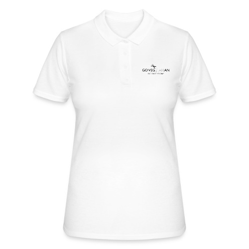 Go Vegan cut out the crap - Women's Polo Shirt