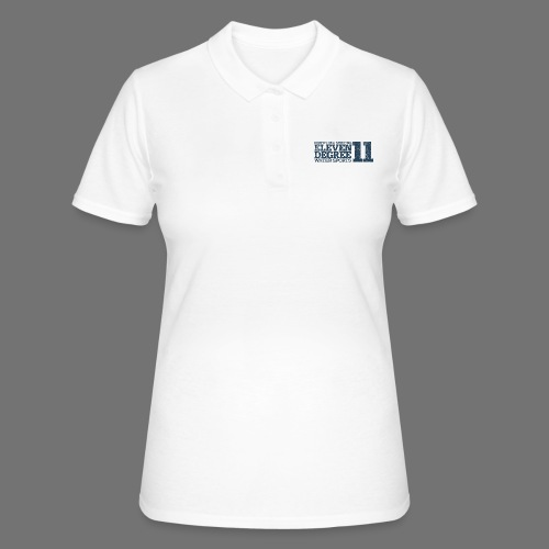 eleven degree gray blue (oldstyle) - Women's Polo Shirt