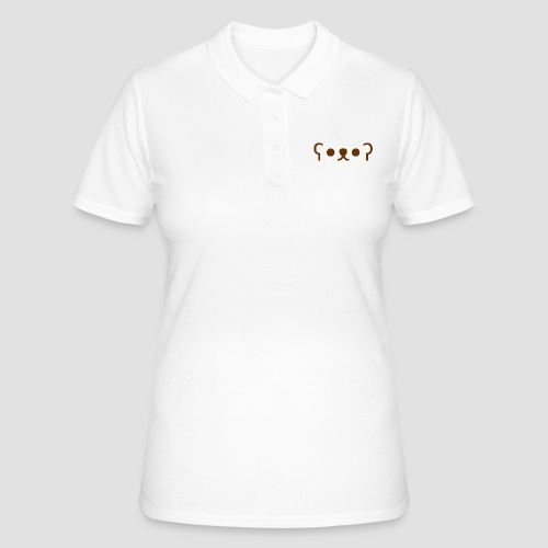 Kuma Kaomoji (Marron) - Women's Polo Shirt