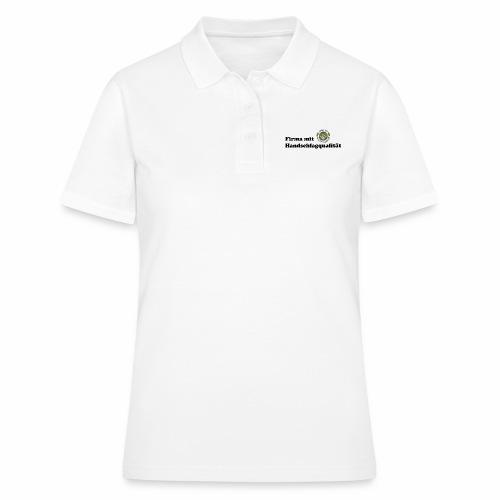 Handschlagqualität Text schwarz - Frauen Polo Shirt