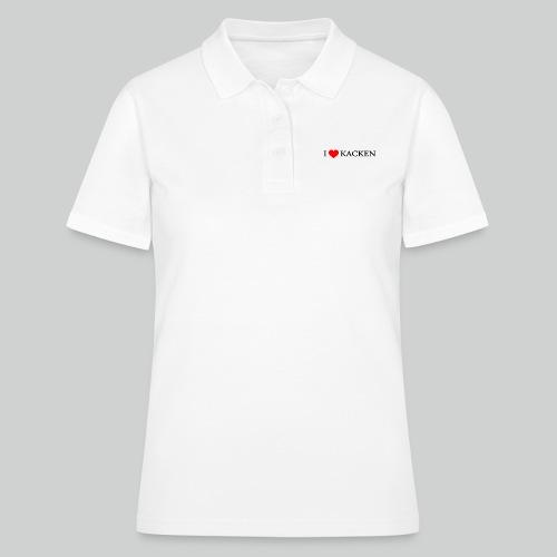 i love kacken - Frauen Polo Shirt