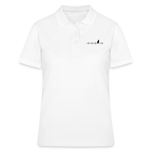 Herzschlag Wolf Hund Geschenk - Frauen Polo Shirt