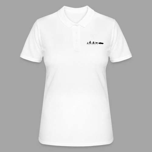 Bicycle evolution black - Women's Polo Shirt