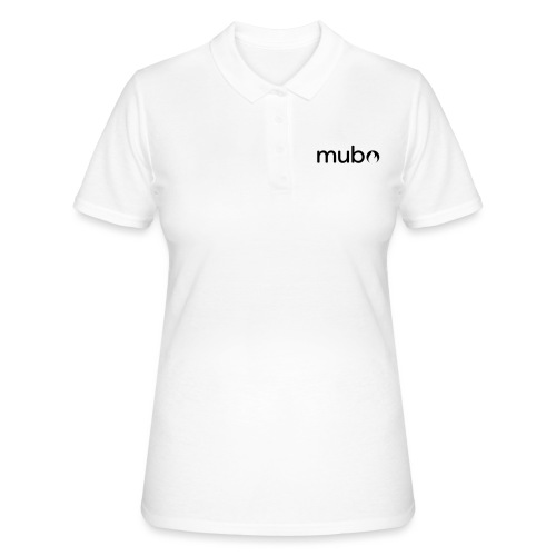 mubo logo Word White - Women's Polo Shirt