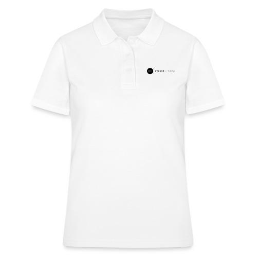 Svart logo vertikal dam - Women's Polo Shirt