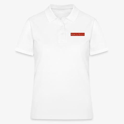 PERCEPTION CLOTHES ROUGE ET BLANC - Polo Femme