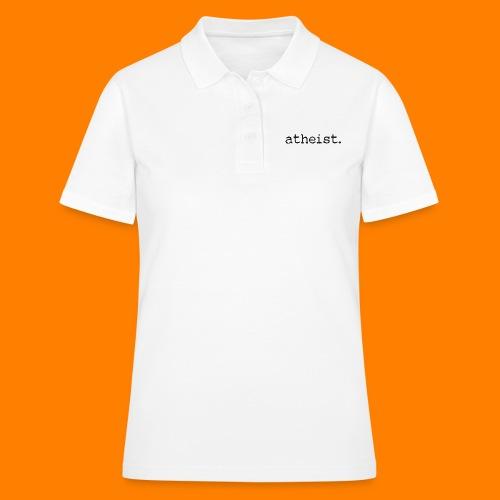 atheist BLACK - Women's Polo Shirt