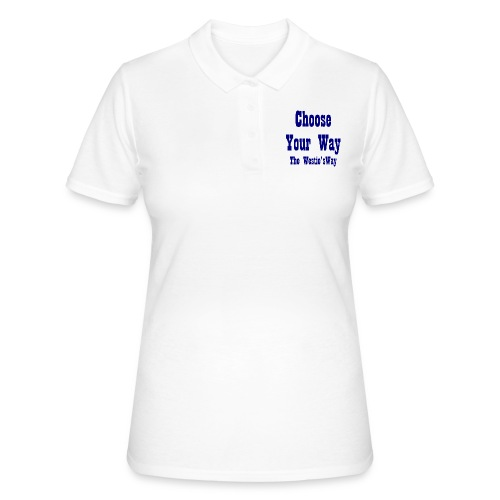 Choose Your Way Navy - Women's Polo Shirt