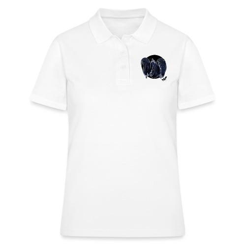 'Aubergines' by BlackenedMoonArts, w. logo - Poloshirt dame