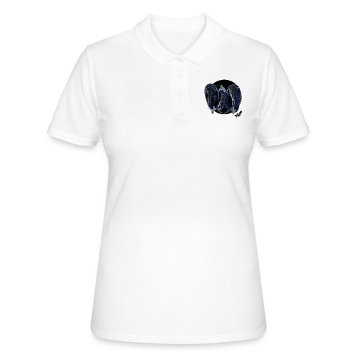 'Aubergines' by BlackenedMoonArts, w. logo - Women's Polo Shirt