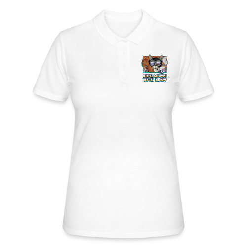 Crime Cat in Shades - Braking the Law - Women's Polo Shirt
