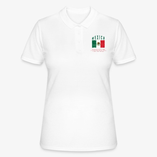 Mexican Flag Bandera Mexico - Frauen Polo Shirt