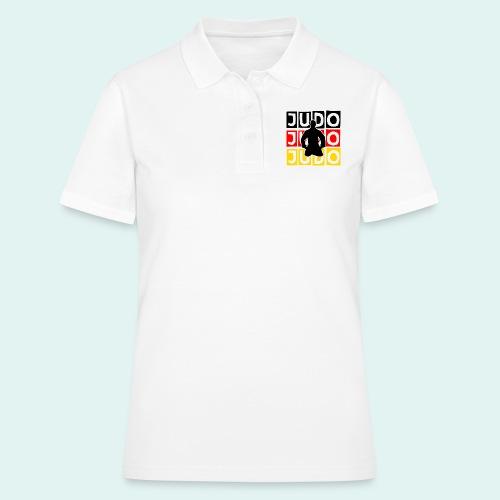 Judo Motiv Schwarz Rot Gold - Frauen Polo Shirt