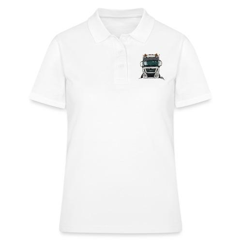 0819 M truck white - Women's Polo Shirt