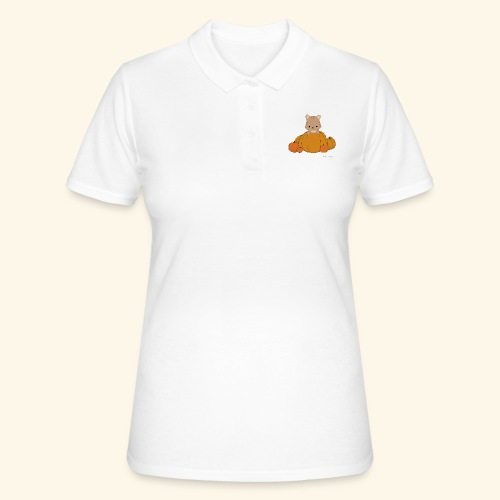 Cat with Pumkin - Frauen Polo Shirt