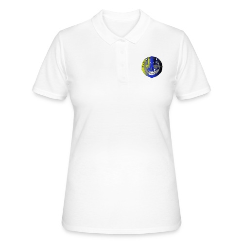 Rigormortiz Metallic Yellow Blue Design - Women's Polo Shirt