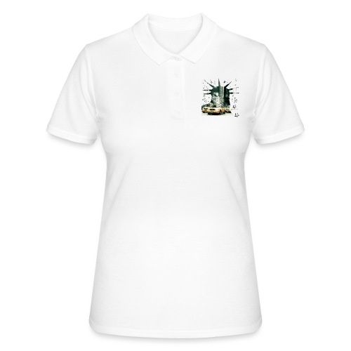 NYC - Lady liberty and the yellow cabs - Frauen Polo Shirt
